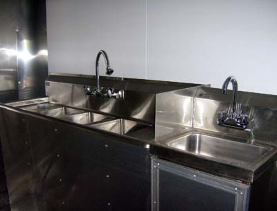 Concession Trailer sinks