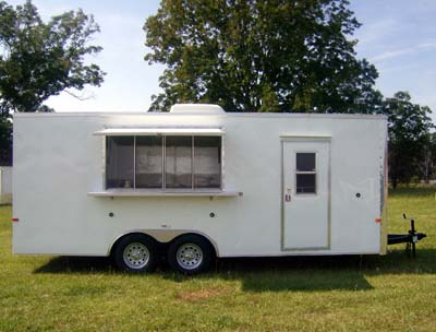 Concession Trailer white dual axle
